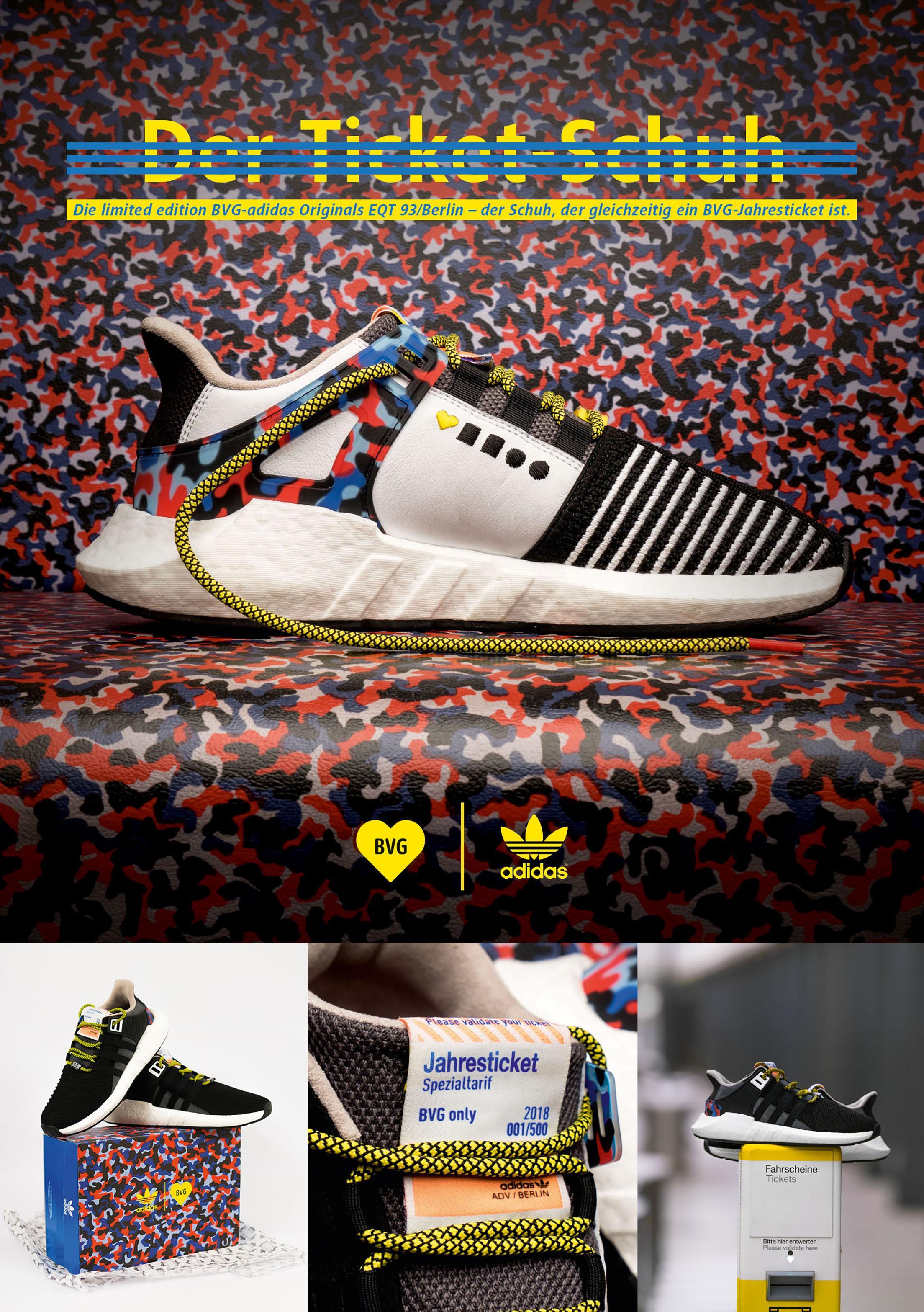BVG x adidas – Der Ticket Schuh Gold Brand Creation